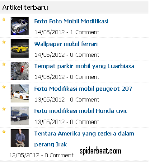 Recent post thumbnail blogspot terbaru