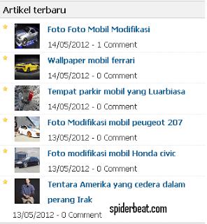 Recent post thumbnail blogspot terbaru