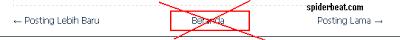Cara menghilangkan beranda diblog