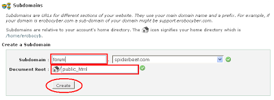 Cara setting subdomain
