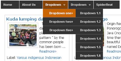 Membuat NavBar dropdown menu dengan CSS