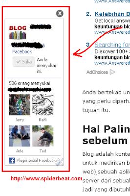 Membuat FB Like Box melayang dengan tombol close