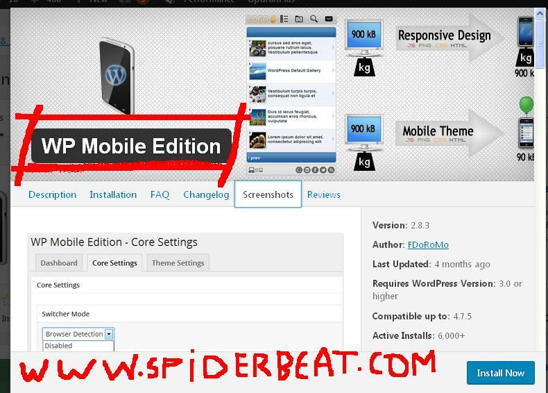 cara membuat mobile subdomain dengan wordpress plugin