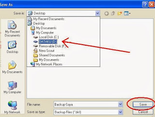 Cara membuat Backup registry System Windows XP