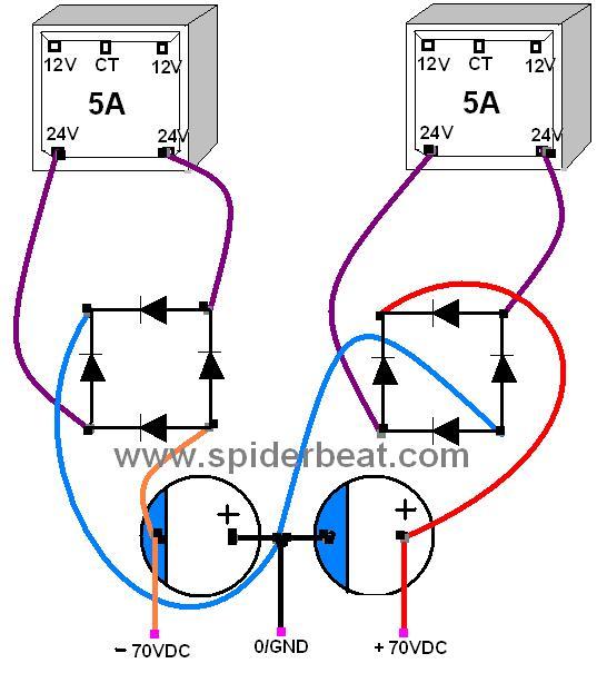 Menggabungkan 2 trafo untuk meniambah tegangan ampere tetap