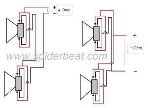 cara merangkai 2 buah speaker double coil