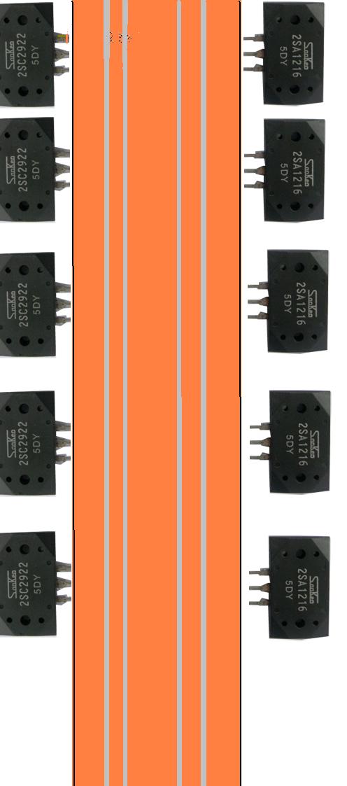 Membuat jalur rangkaian transistor final ada pcb kosong