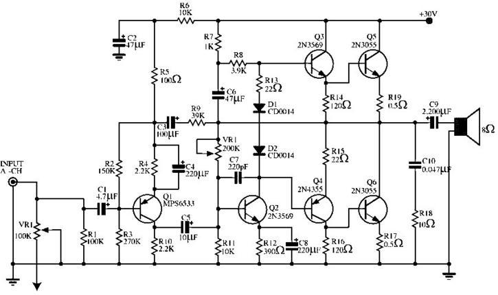 kerusakan umum pada driver power amplifier ocl 150 watt