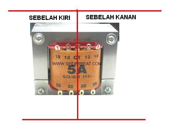 memperbaiki trafo 5 ampere