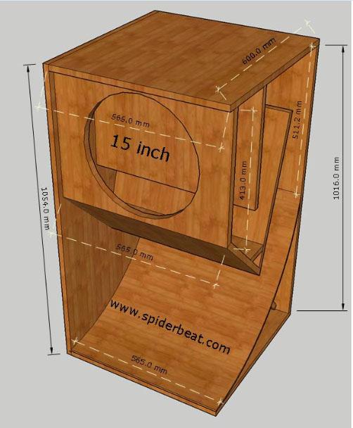 Desain box mini scoop 15 inch dan ukuran