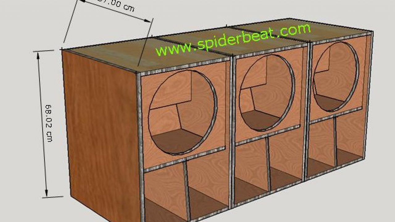 """Gambar Desain Ukuran Boks Speaker Mini Scoop 12"""" Lengkap"""