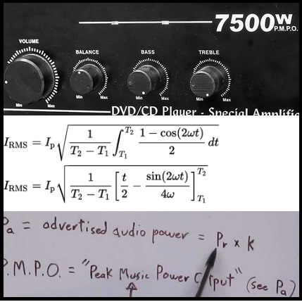 Watt RMS vs Watt PMPO