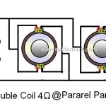 2 double coil 4 ohm pararel di pararel