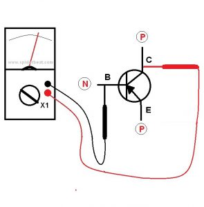 Mengetes transistor NPN 2