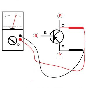 Mengetes transistor NPN 4
