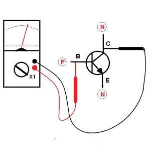 Mengetes transistor PNP 2