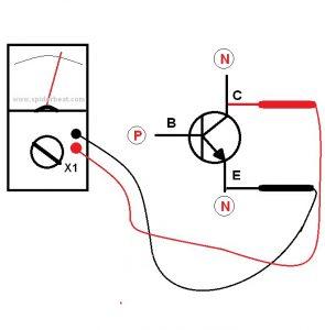 Mengetes transistor PNP 4