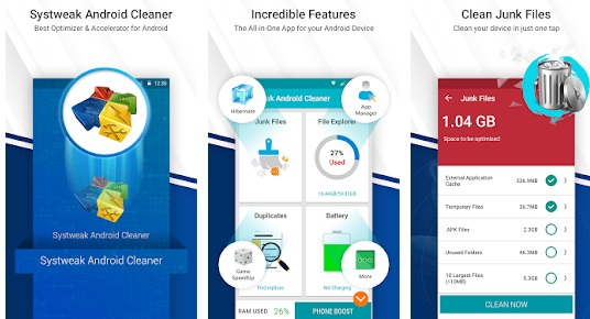 Pembersih android Systweak Android Cleaner