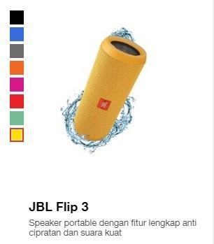 Harga speaker portabel JBL Flip3
