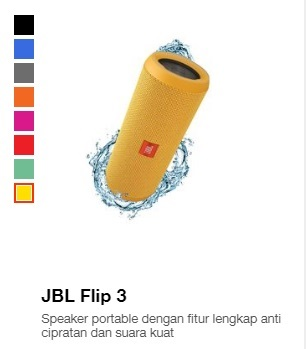 Harga speaker JBL Flip3
