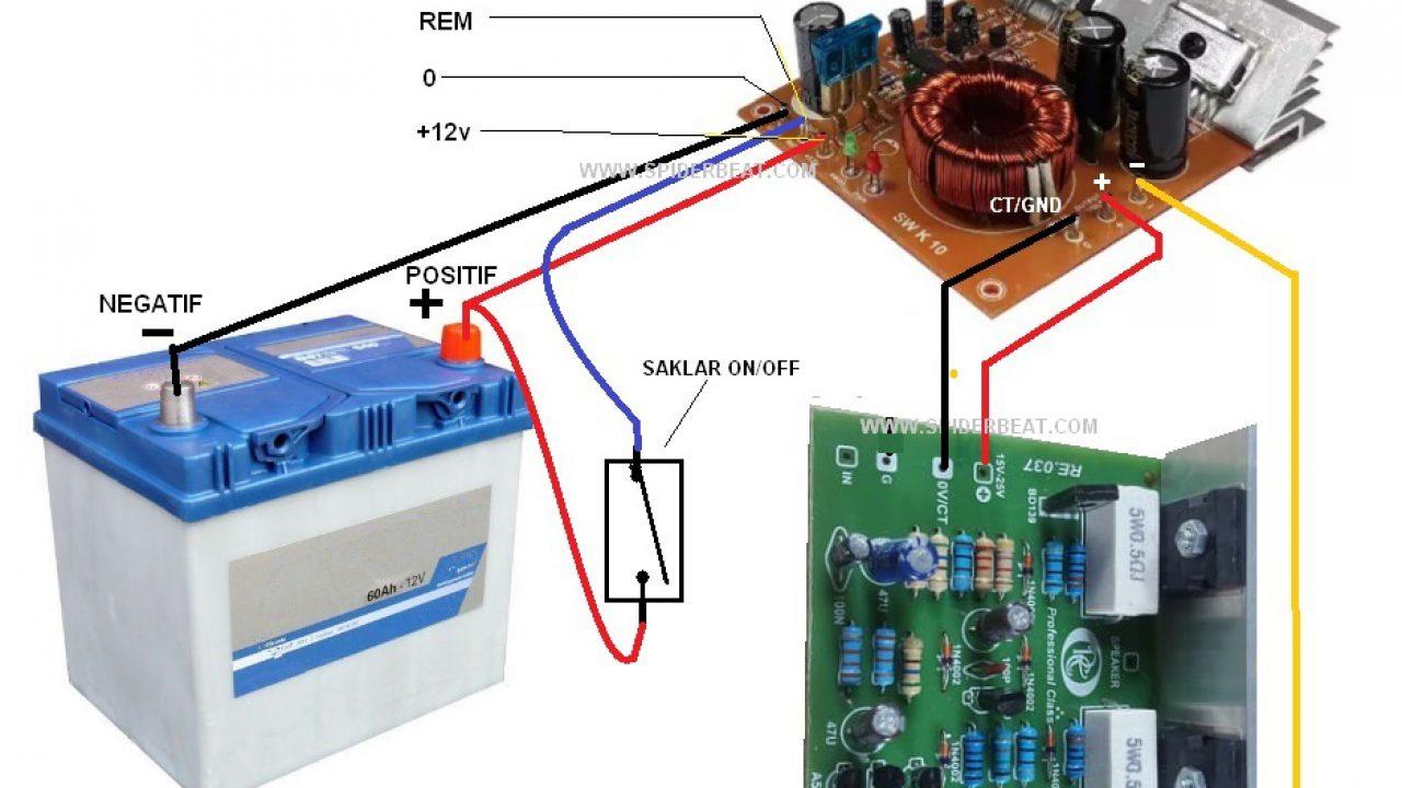 Cara Agar Kit Power Amplifier Ocl 150w Bisa Menggunakan Aki 12v