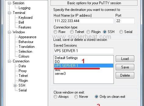 Cara setting puTTY untuk Mengakses VPS 2