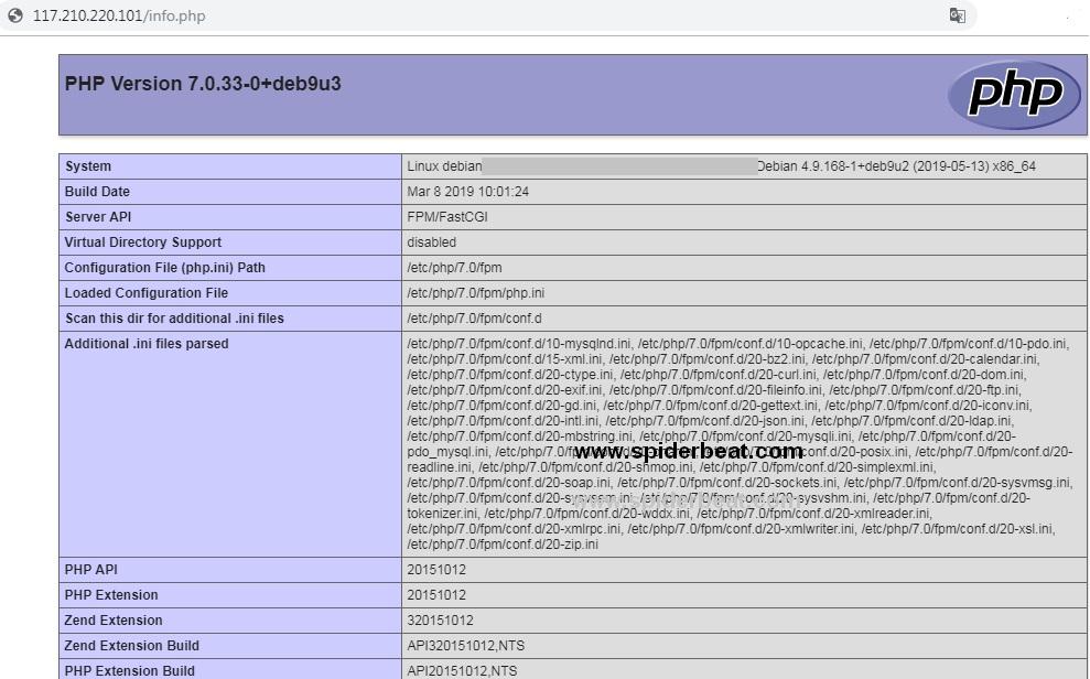Install php fpm 7 debian 9