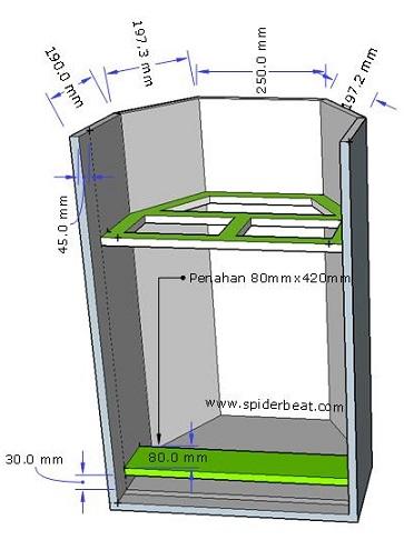 Box speaker 15 inch stand indoor outdoor