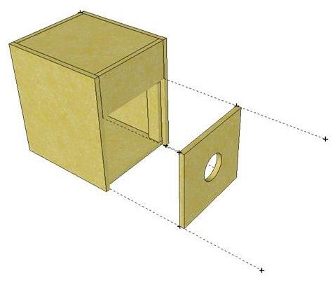 Desain Box speaker bandpass subwoofer 10 inch 3
