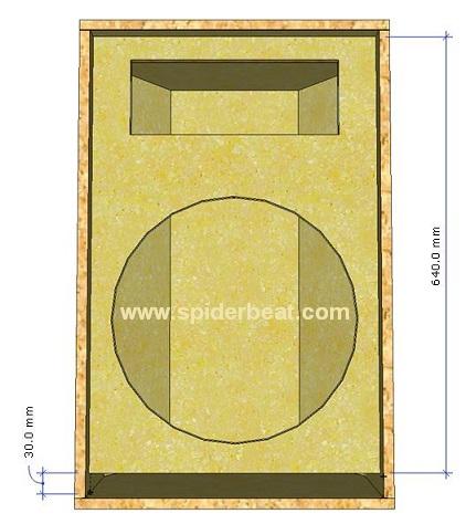 Desain box speaker mid bass 15 inch 5