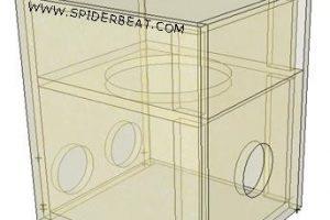Desain skema box bandpass untuk bazzoka