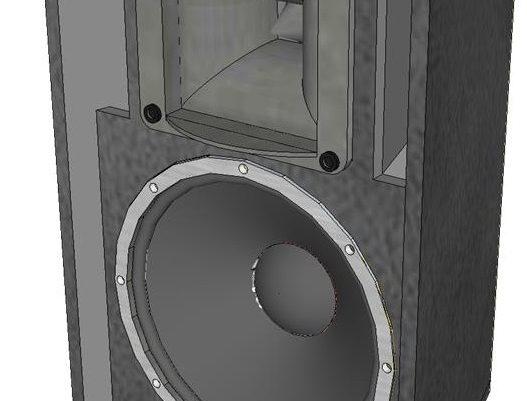 Skema box speaker 15 inch 2 way horn
