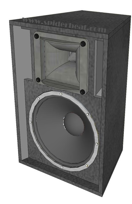 Skema box speaker 15 inch 2 way horn