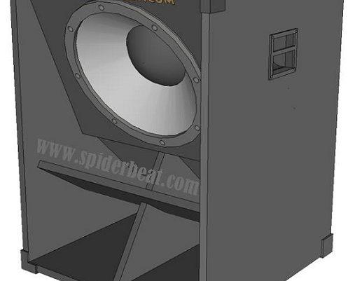 Desain Skema box speaker lapangan 18 inch 6