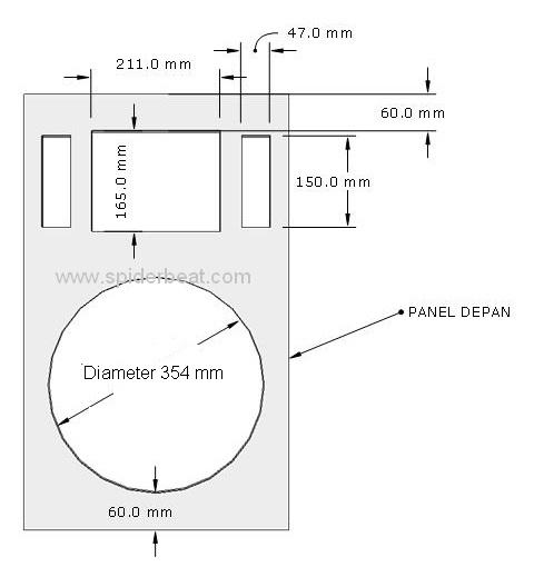 desain box speaker monitor panggung 15 inch 3a