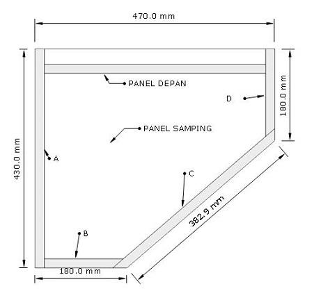 desain box speaker panggung 15 inch