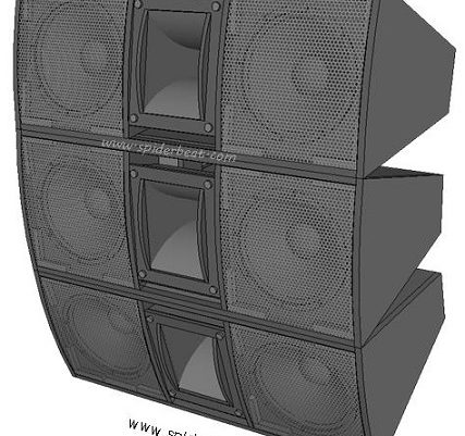 Skema desain box speaker mid hi 12 inch double