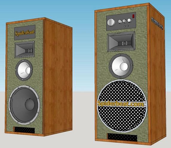 Desain box speaker aktif 12 inch 3 way