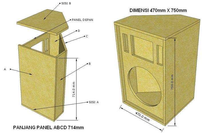 skema box speaker panggung 15 inch 2