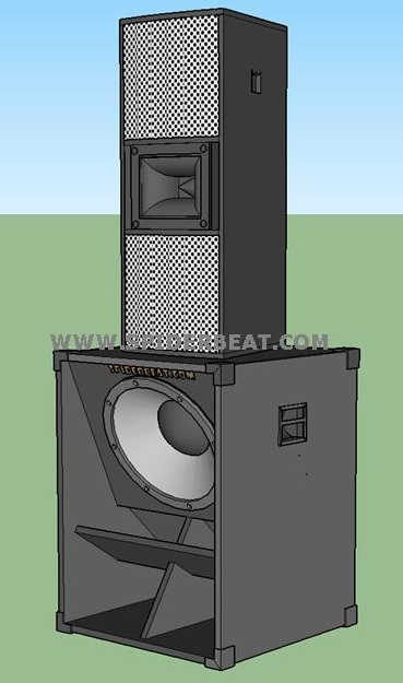skema speaker sub bass lapangan 18 inch