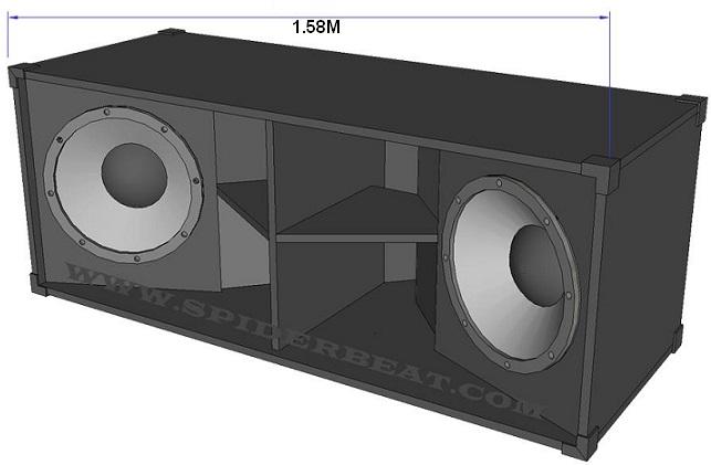 skema speaker lapangan subbass double 18 inch