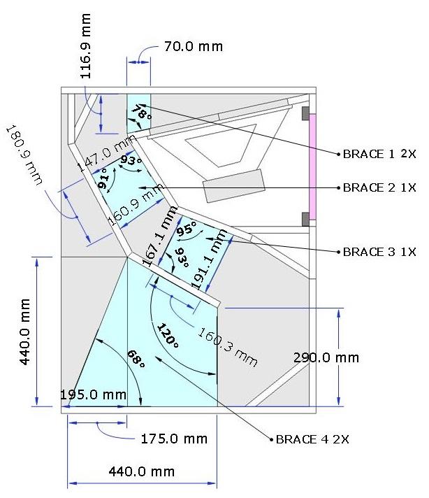 speaker box 18 turbo bass Horn Loaded schema design
