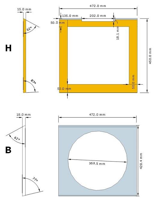 ukuran box sub bass 15 HD215 2
