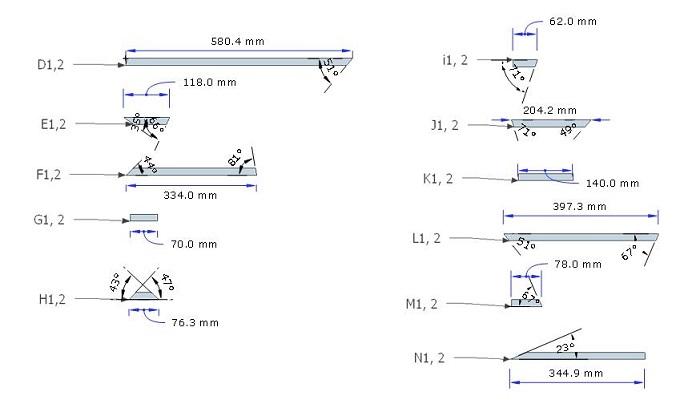 Skema Box CLA 18 Ukuran komponen