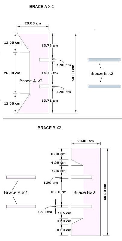 Ukuran Brace box speaker CBS 15 inch