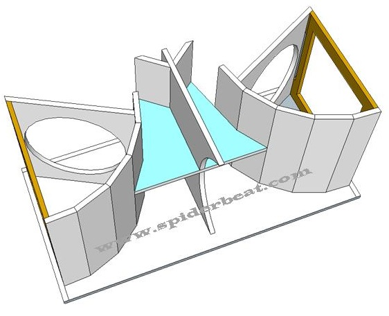 Desain box sub bass 15 HD215