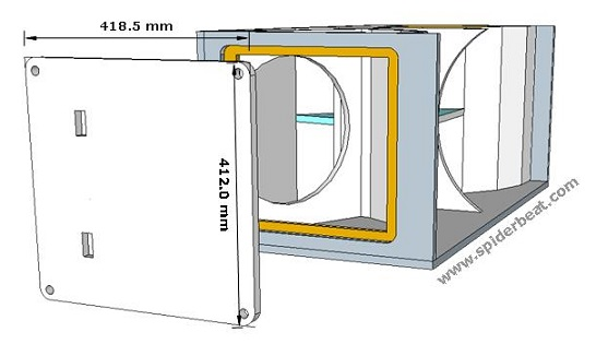 Desain tutup Box speaker HD215