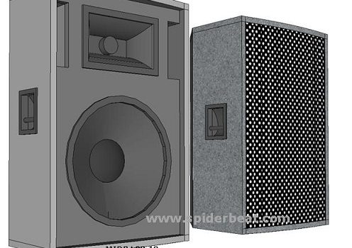 skema box speaker midbass 12 inch dan ukuran