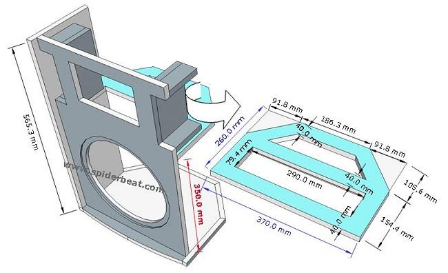 desain box speaker midbass 12 brace