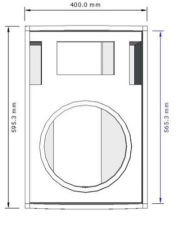 Dimenasi box speaker midbass 12